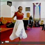 Shonda Stevens in an interpretive dance at GWM on October 13, 2013